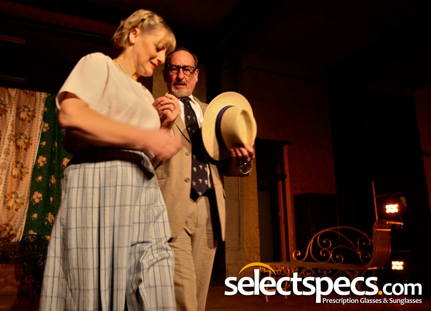 SelectSpecs Eyewear - The Savannah P2383 Wayfarer Style Glasses featured in The Seagull At The Theatre Royal, Margate