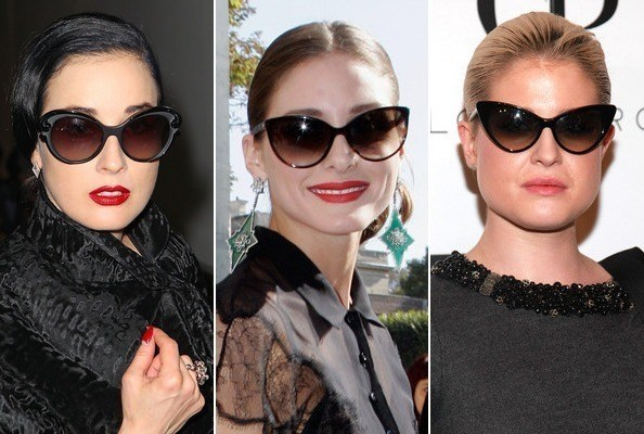 Cat Eye Sunglasses Dita Von Teese Olivia Palermo Kelly Osbourne