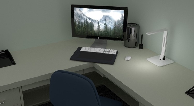 improve computer work space for eyes