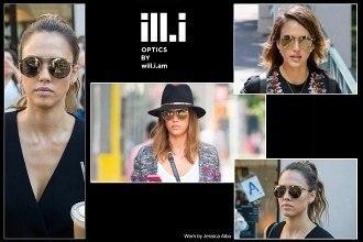 Jessica Alba Wearing ill.i sunglasses by Will.I.Am