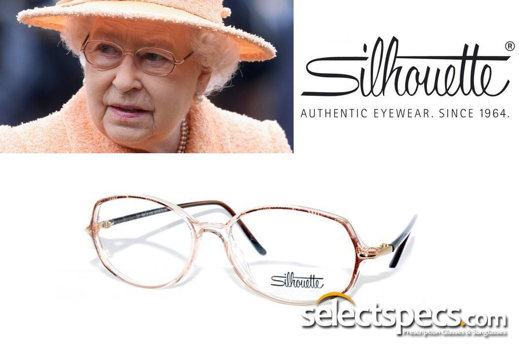 The Queen in Silhouette Glasses