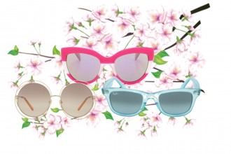 Colour Popping Sunglasses in Pink, White and Blue