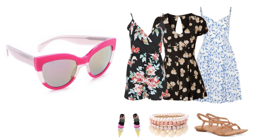 Marc by Marc Jacobs Pink and White/Transparent Sunglasses