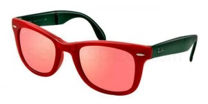 Ray Ban Wayfarer Red Rimmed Sunglasses