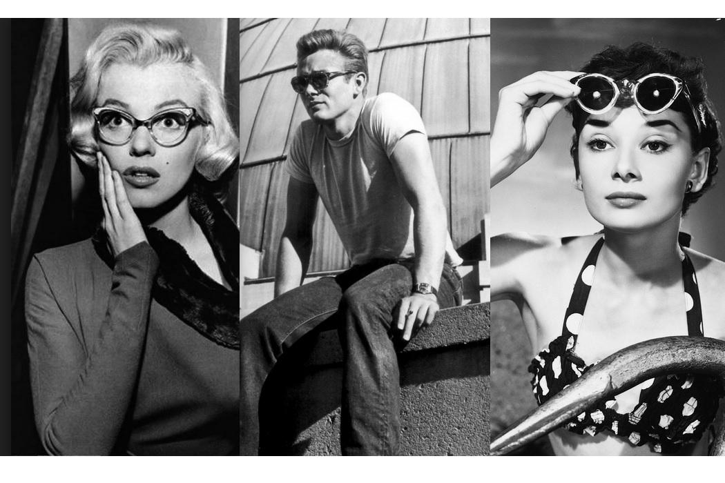 Marilyn-Monroe-James-Dean-Audrey-Hepburn-50s-style-cat-eye-aviator-glasses