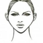 Diamond facial shape