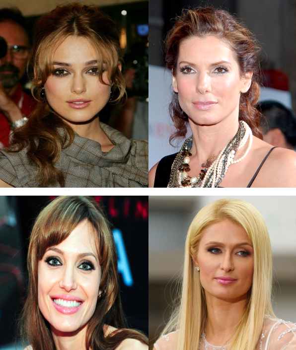 Keira-Knightley-Sandra-Bullock-Angelina-Jolie-Paris-Hiilton-square-face-shapes