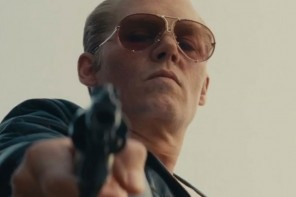 Johnny Depp Wears Porsche Design Sunglasses in Black Mass
