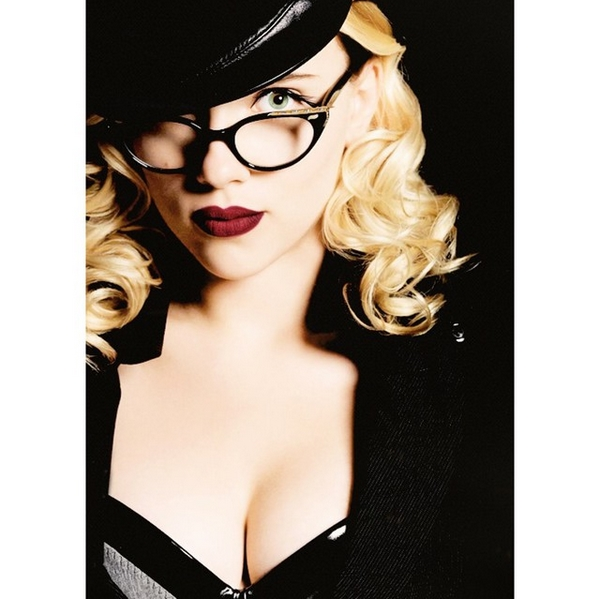 Scarlett Johansson with glasses