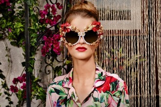 SS16 trend: floral eyewear Dolce and Gabbana floral sunglasses