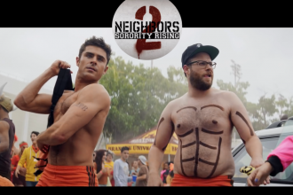 Seth Rogen and Zac Efron in Neighbors 2