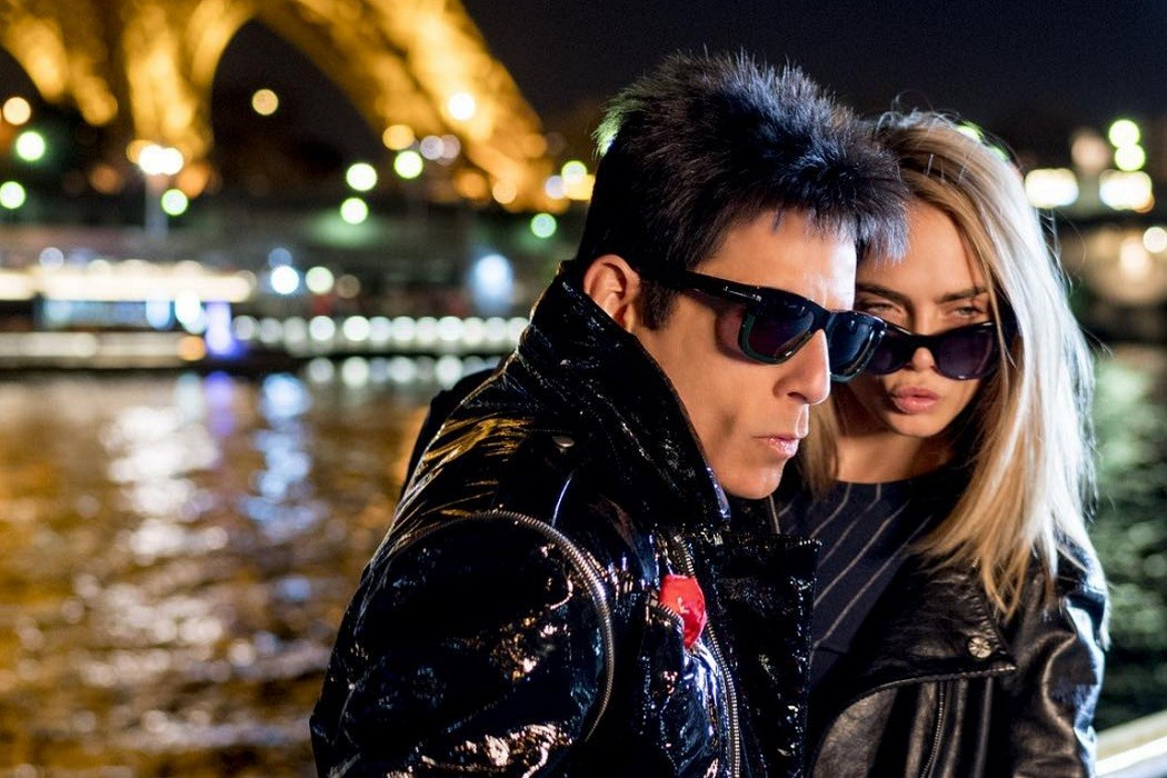 Derek Zoolander Cara Delevingne Paris catwalk walk off sunglasses