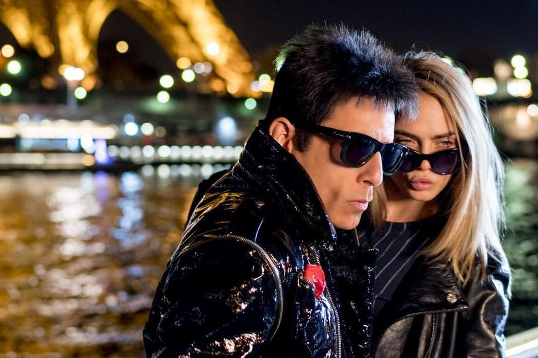 Derek Zoolander Cara Delevingne Paris catwalk walk off sunglasses