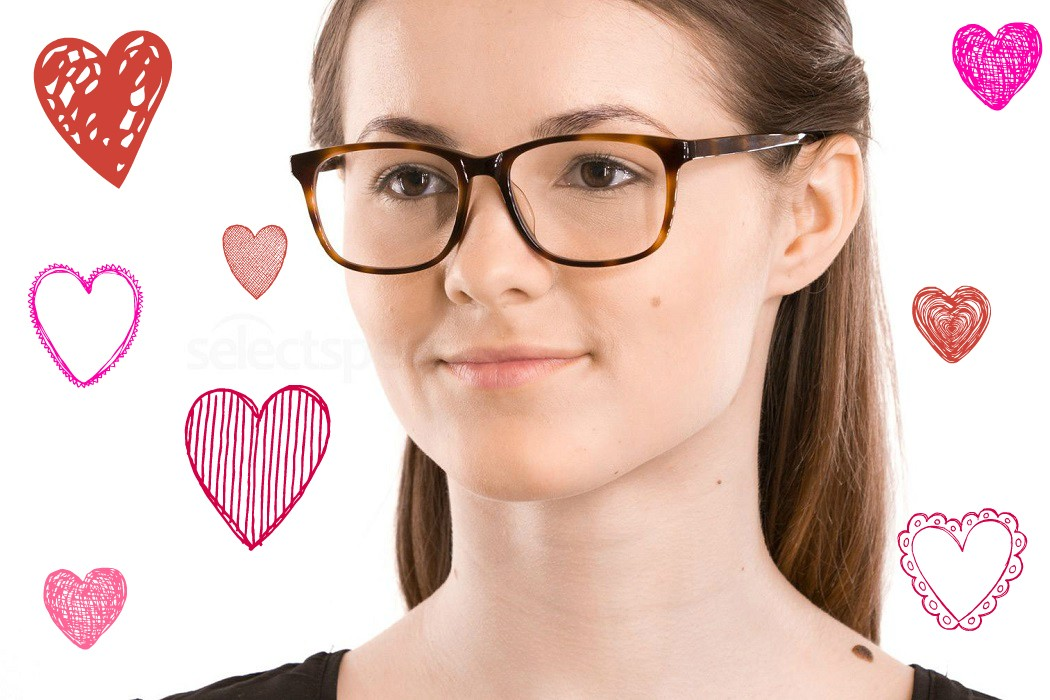 Valentine's Day style inspiration, how to wear glasses on a date