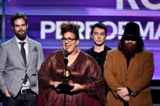 Alabama Shakes accepting awards at Grammys