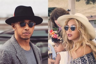 Celebrity favorite sunglasses brands Lewis Hamilton Beyonce