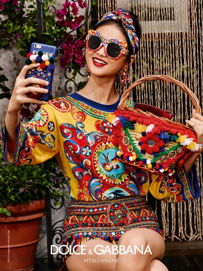 Dolce and Gabbana 2016 eyewear campaign colours