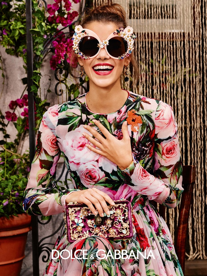 Dolce and Gabbana 2016 eyewear campaign floral