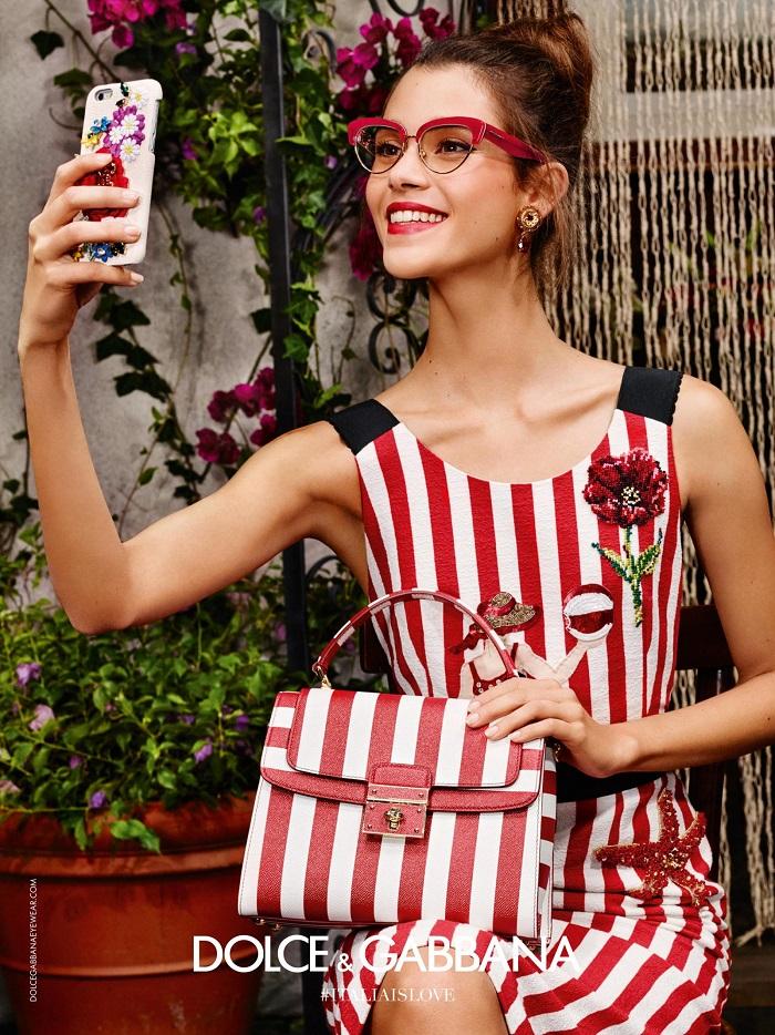Dolce and Gabbana 2016 eyewear campaign stripes
