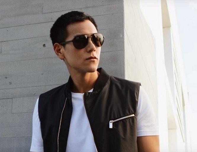 Eddie Peng Hugo Boss Eyewear sunglasses