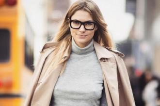 Model Jessica Hart wears glasses