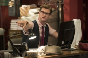 Chris Hemsworth Shows off Specs for New Ghostbusters Film