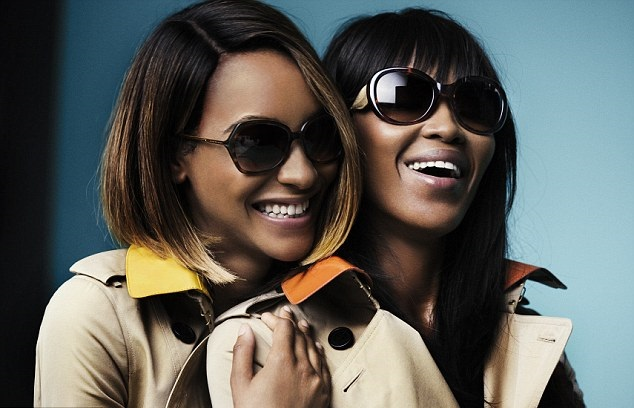 jourdan dunn burberry glasses