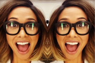 Myleene Klass geek chic glasses