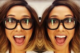 Myleene Klass geek chic glasses