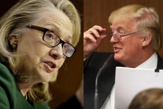 Donald Trump Hillary Clinton Glasses