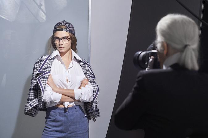 Cara Delevingne modeling Chanel SS16 eyewear
