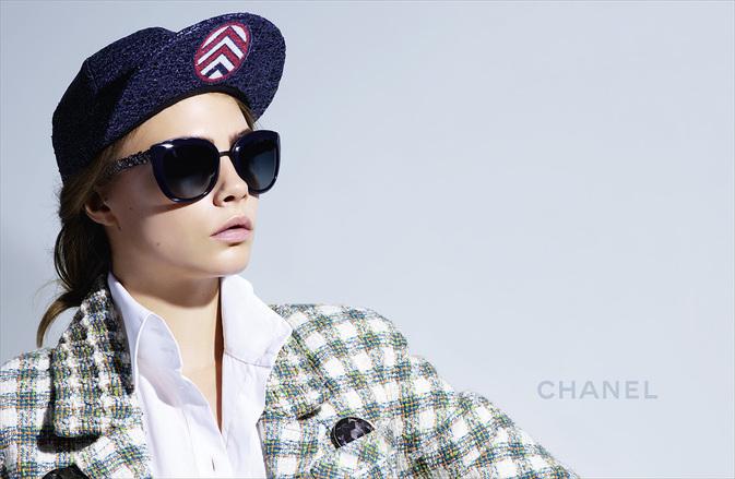Chanel Eyewear Campaign Spring Summer 2016 featuring Cara Delevingne