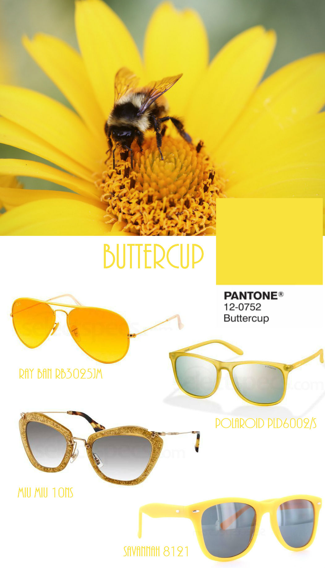 Pantone Buttercup sunglasses