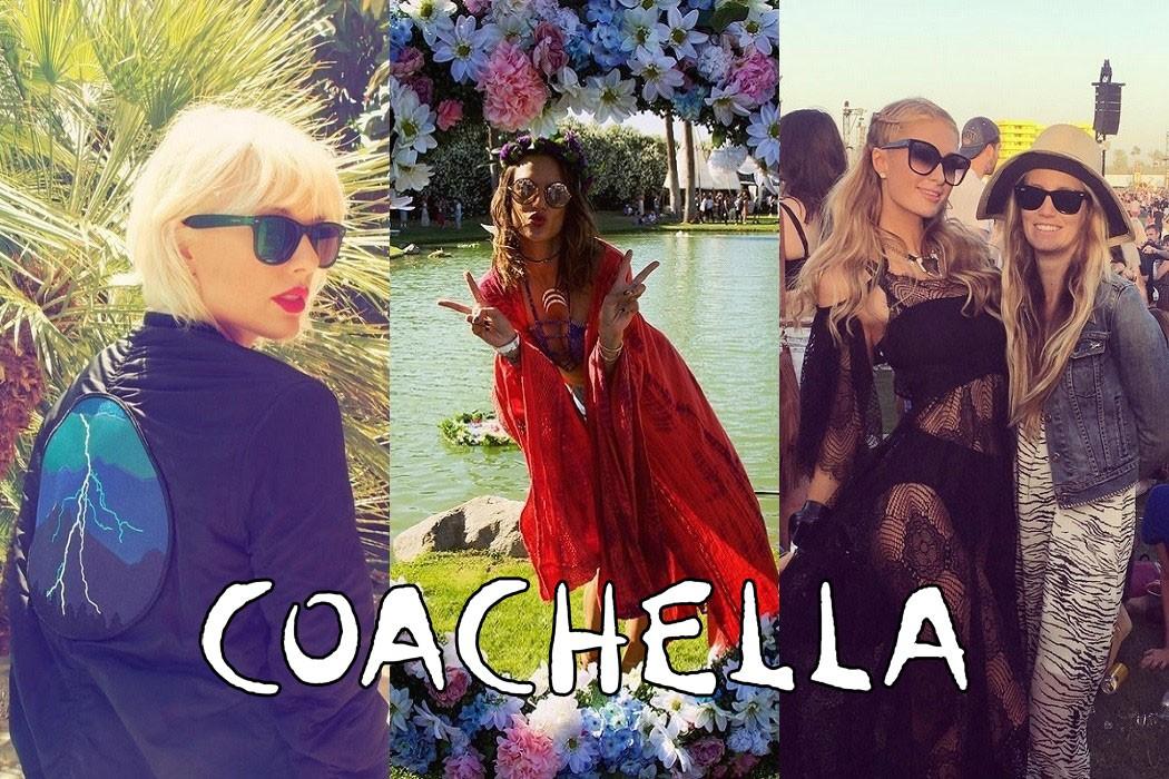 Celebrity sunglasses seen at Coachella 2016