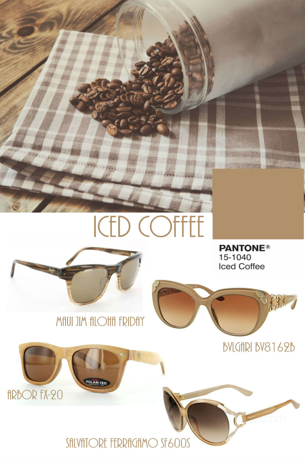 Pantone Iced Coffee sunglasses