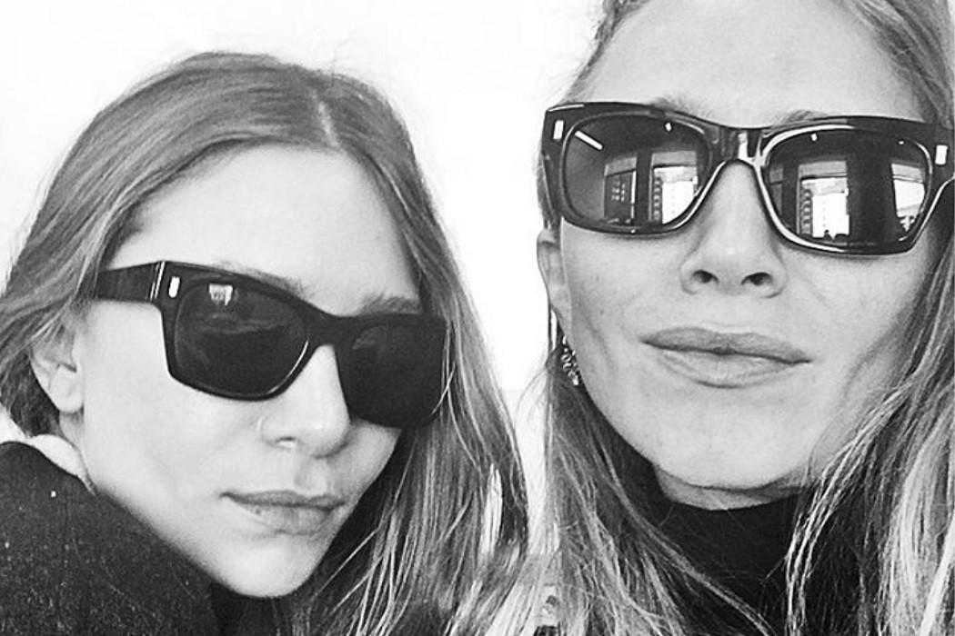 Mary Kate and Ashley Olsen sunglasses selfie