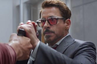 Robert Downey Jr Captain America: Civil Warm sunglasses