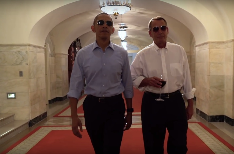 Barrack Obama sunglasses in Couch Commander video