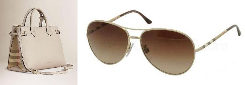 burberry handbag and glasses house check