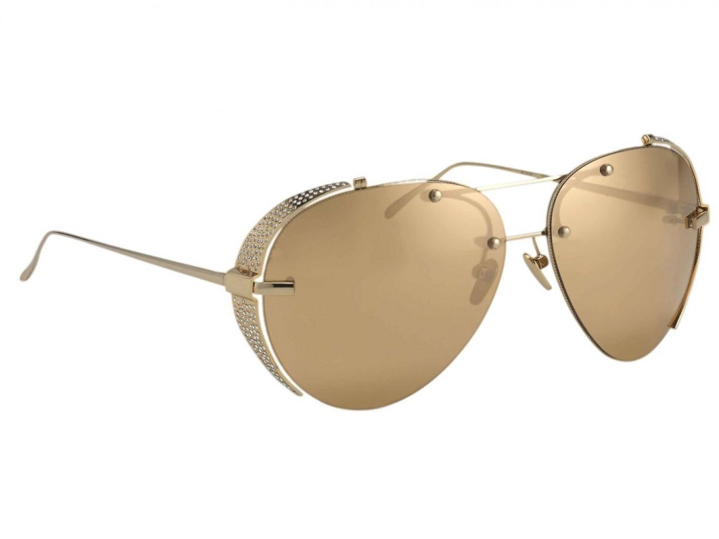 Linda-Farrow-gold-sunglasses