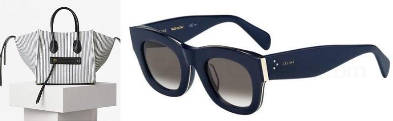 celine nautical handbag glasses