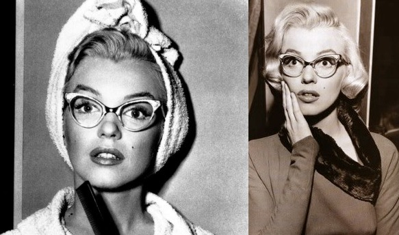 marilyn monroe horn rimmed glasses