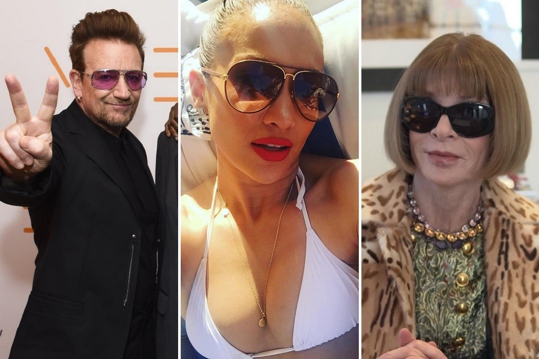 celebrities who love to wear sunglasses