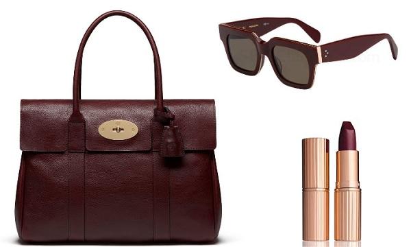 AW16 colour trends burgundy