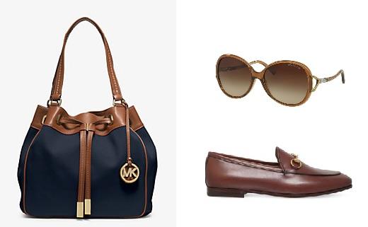 michael kors handbag and sunglasses