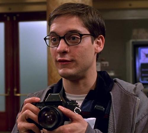peter parker geek glasses