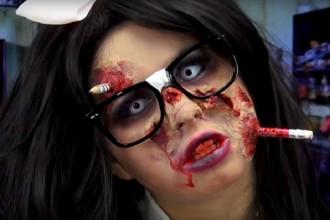 halloween makeup glasses