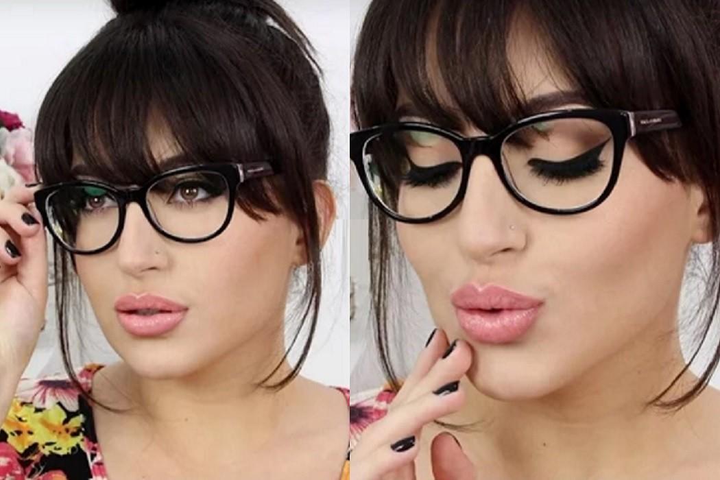 winter eye makeup for glasses