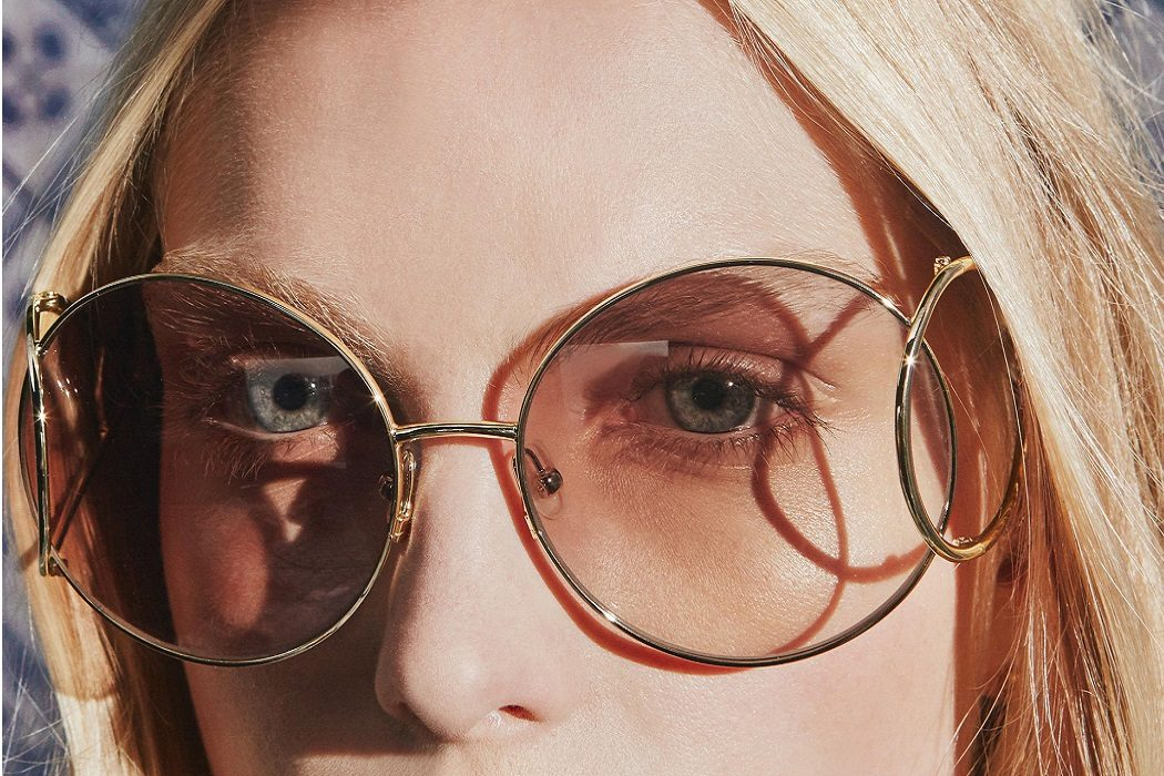 wire rimmed sunglasses 2017 trends catwalk chloe