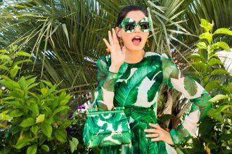 DG campaign botanical trend eyewear